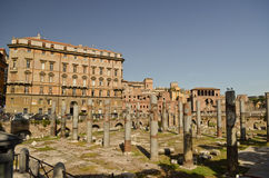 Форум Trajan в Риме Италии стоковые фото