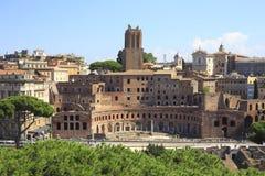 Форум Trajan в старом Риме, Италии Стоковое Фото