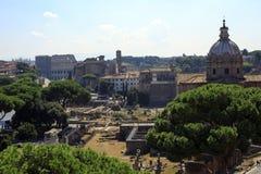 Форум Trajan в старом Риме, Италии Стоковая Фотография RF