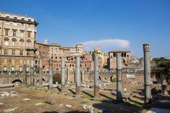Форум Trajan, Рим, Италия Стоковые Изображения RF