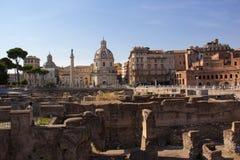 Форум Trajan, Рим, Италия Стоковое Изображение RF