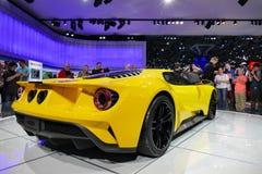 Форд GT, автомобиль спорт на автосалоне Нью-Йорка международном, вид сзади Стоковые Фото