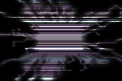 Фосфоресцентные черные голубые линии Радостная текстура и картина стоковая фотография rf