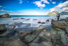 Фотографировать красоту норвежских побережей Стоковое Изображение