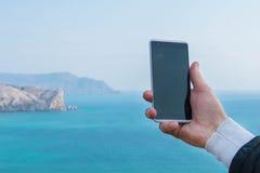 Фотографировать на smartphone Стоковое фото RF