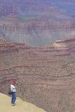 Фотографировать неровный грандиозный каньон Стоковые Фотографии RF