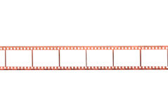 Фотографическая пленка с пустыми рамками Стоковая Фотография