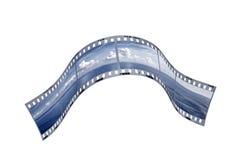 Фотографические filmstrips с ландшафтом туризм голубой карты dublin принципиальной схемы города автомобиля малый Стоковое Фото