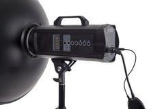 Фотографическое оборудование освещения студии Стоковое фото RF