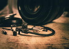 фотографическое оборудования старое Стоковое Изображение