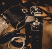 фотографическое оборудования старое Стоковые Изображения