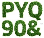 Фотография алфавита травы установила 7 из 7 Стоковая Фотография RF