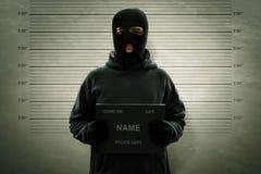 Фотография взломщика замаскированного преступником стоковые изображения rf