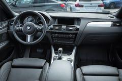 Фотография внутренней новой модели bmw X1 Стоковое Изображение