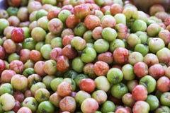 Фотография еды зрелых плодоовощей на рынке Стоковая Фотография RF