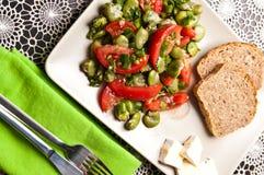 Фотография еды салата обширной фасоли Стоковая Фотография