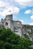 Фотография замка Ogrodzieniec руин Стоковое Изображение