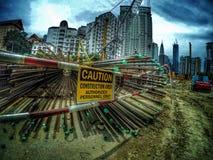 Фотография конструкции Малайзии Стоковое Изображение RF