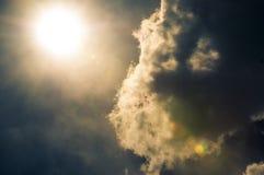 Фотография лучей солнца стоковая фотография