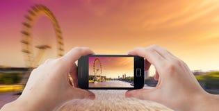 Фотография мобильного телефона Стоковое фото RF