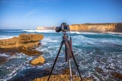 Фотография перемещения, хобби камеры Стоковые Изображения RF