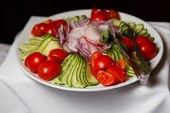 Фотография плиты с овощами Стоковые Изображения