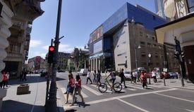 Фотография улицы Бухареста - городская стоковое изображение