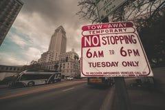Фотография улицы в Лос-Анджелесе к центру города стоковая фотография rf