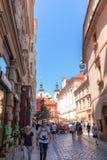 Фотография улицы Праги, чехия Стоковая Фотография RF