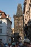 Фотография улицы Праги, чехия стоковые изображения rf