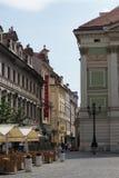 Фотография улицы Праги, чехия Стоковые Фотографии RF