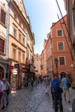 Фотография улицы Праги, чехия стоковое изображение