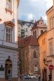 Фотография улицы Праги, чехия Стоковое Изображение RF