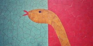 Фотография улицы с плитками мозаики стоковые изображения rf