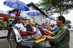 Фотография улицы на Pulau Pinang стоковое изображение
