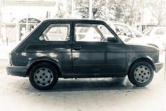 Фотография Фиат 126 черно-белая Стоковые Изображения