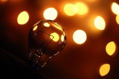 Фотография электрической лампочки стоковые фотографии rf