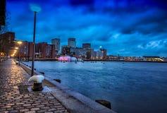 Фотография Maas канала Роттердама стоковое изображение