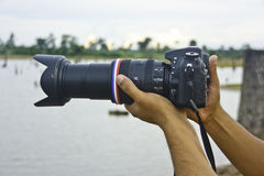 Фотографы природы. Стоковые Изображения