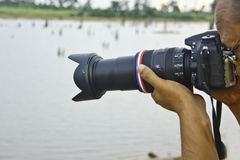 Фотографы природы. Стоковая Фотография