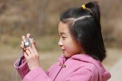 фотографы ребенка стоковое фото rf