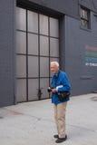Фотограф Билла Cunningham американский в Нью-Йорке Стоковые Изображения