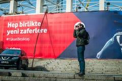 Фотограф в Besiktas, Стамбуле, Турции Стоковое фото RF
