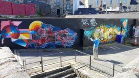 Фотограф граффити Стоковое фото RF