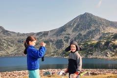 фотограф девушки маленький Стоковое Изображение RF