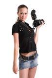 фотограф девушки стоковые изображения rf