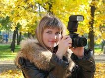 фотограф девушки Стоковые Изображения
