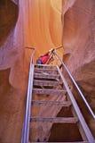 Фотограф каньона антилопы Стоковое Фото
