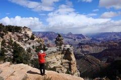 фотограф каньона грандиозный стоковое изображение rf