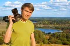 фотограф колеривщика ландшафта стоковое изображение rf